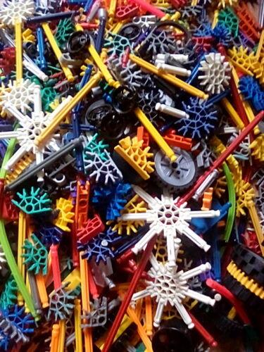 Job Lot mixte 1.125 kg Bundle of KNEX K /'NEX roues CONNECTEURS TIGES rouages etc