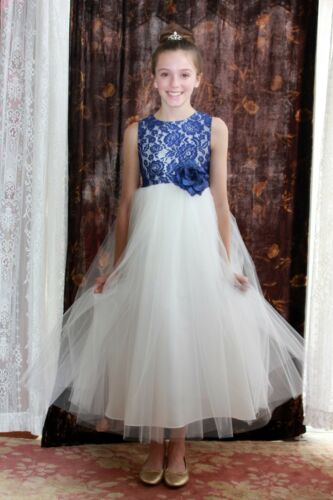 8c707ccfff9 2 of 6 Floral Lace Heart Cutout Flower Girl Dress Girls Lace Dresses  Recital Dresses