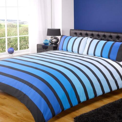 Finest Homeware by Rapport. Soho Blue Striped Single Duvet Set