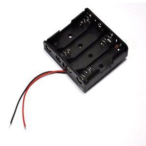 4xAA Kunststoff Batterie Aufbewahrungskoffer Box Halter 4XAA 2A 6.0V Kabel AHS