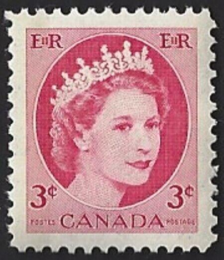 Canada  # 339   QUEEN ELIZABETH II   WILDING PORTRAIT   VF-NH  1954 Original Gum