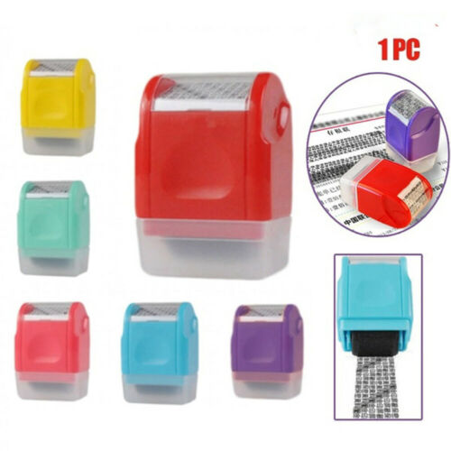 3x Identity Privacy Protection Roller Stamp Information Coverage Data Protector