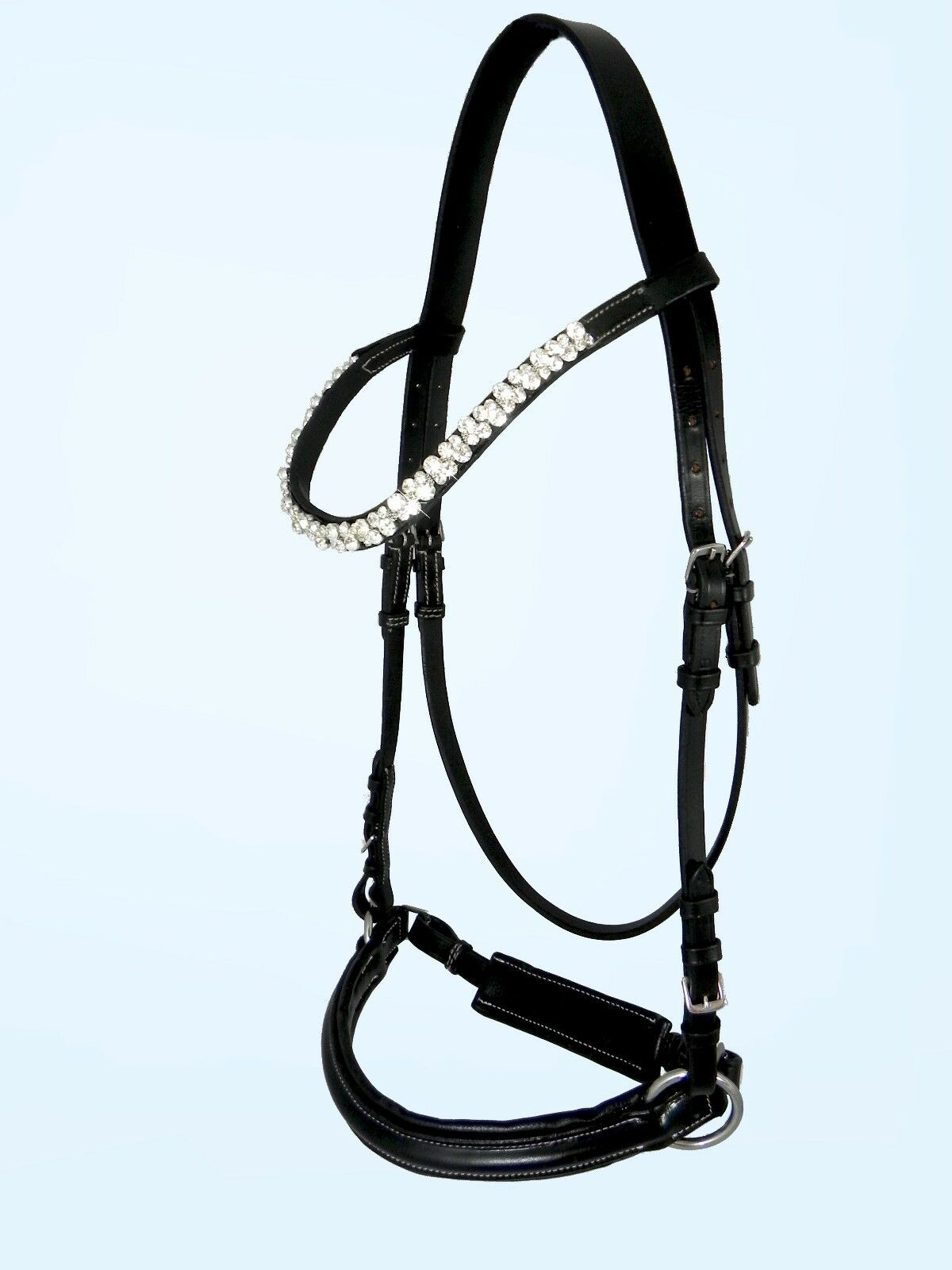Gebissloser logran contener grande Royal Bitless Bridle sidepull con brillo Pony, VB, WB