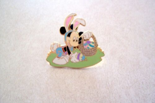 Disney Holiday Pin Collection Mickey Mouse Easter Bunny Basket Eggs Pin