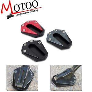Motorcycle Foot Side Stand Extension Kickstand Pad Plate Anti-slip Kickstand Pad for NC750X 17-18 Blue