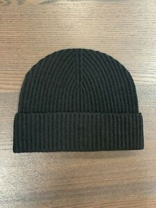100% Cashmere Beanie Hat   Johnstons of Elgin   Made in Scotland   Black   Soft