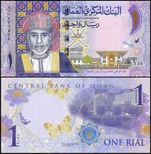 Oman 1 Rial, 2015, P-48, UNC,Commemorating the 45th National Day,Sultan Qaboos
