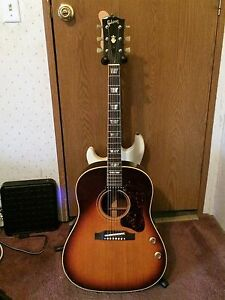 1967 Gibson J 160e Sunburst Acoustic Electric Guitar Ebay