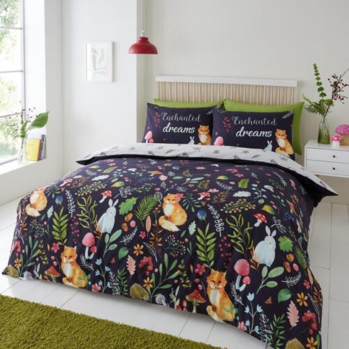 Enchanted Dreams Floral Pattern Luxury Duvet Cover Set Reversible Bedding Set GC