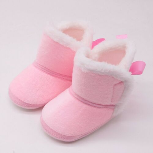 Toddler Infant Baby Girls Winter Warm Plush Soft Sole Shoes For Cute Baby 0-18M