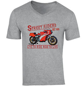 DUCATI-860-CORSA-1976-NEW-COTTON-GREY-V-NECK-TSHIRT