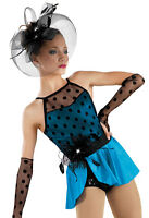 'hollywood' Blue Black Jazz Tap Musical Theater Dance Competition Costume