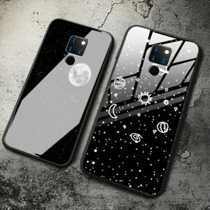 Tempered-Glass-Case-For-Huawei-Mate-20-Shockproof-Hybrid-TPU-Bumper-Hard-Cover