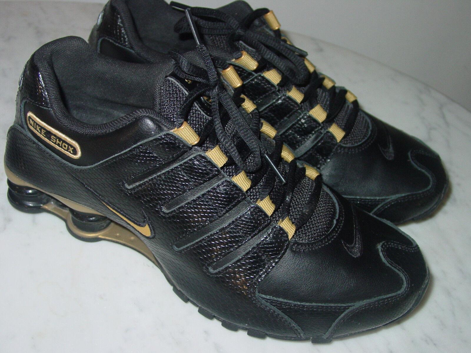 2018 Womens Nike Shox NZ EU Black/Metallic Gold Running Shoes! Comfortable