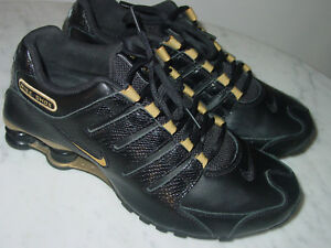 2012 Womens Nike Shox NZ EU Black Metallic Gold Running Shoes! Size ... b75bdcecb9
