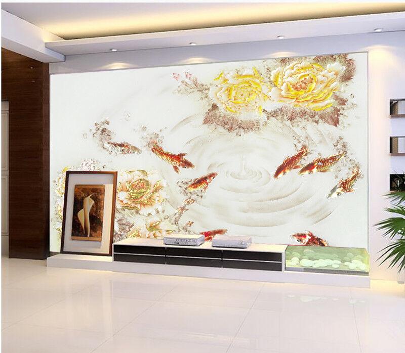 3D Neun Fische PfingstRosa 77 Tapete Wandgemälde Tapete Tapeten Tapeten Tapeten Bild Familie DE  | Neue Produkte im Jahr 2019  | Sofortige Lieferung  | Clearance Sale  d9105b