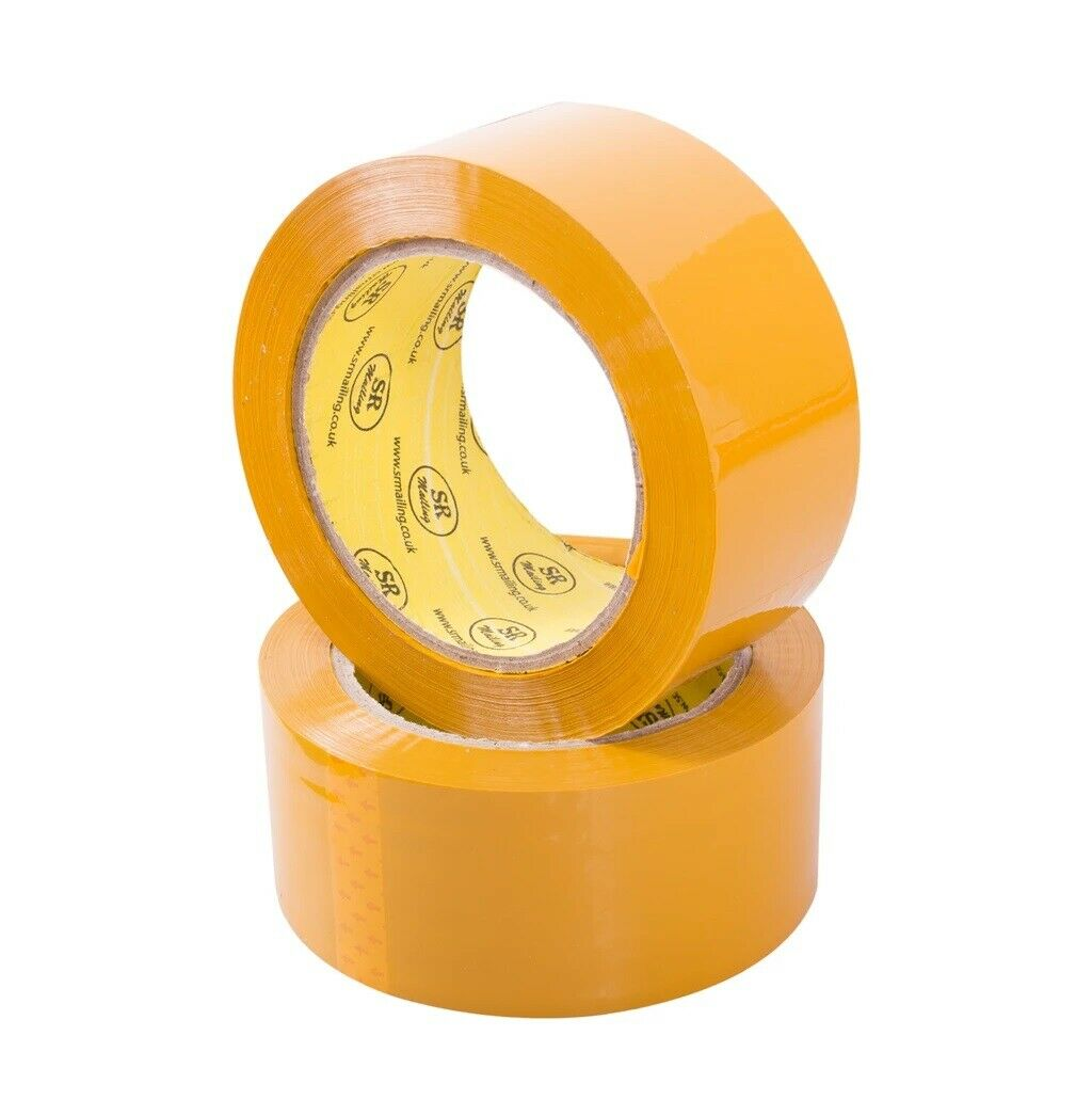 12 Rolls CLEAR PARCEL PACKING TAPES 48mm*66m*56mic STRONG, LOW NOISE