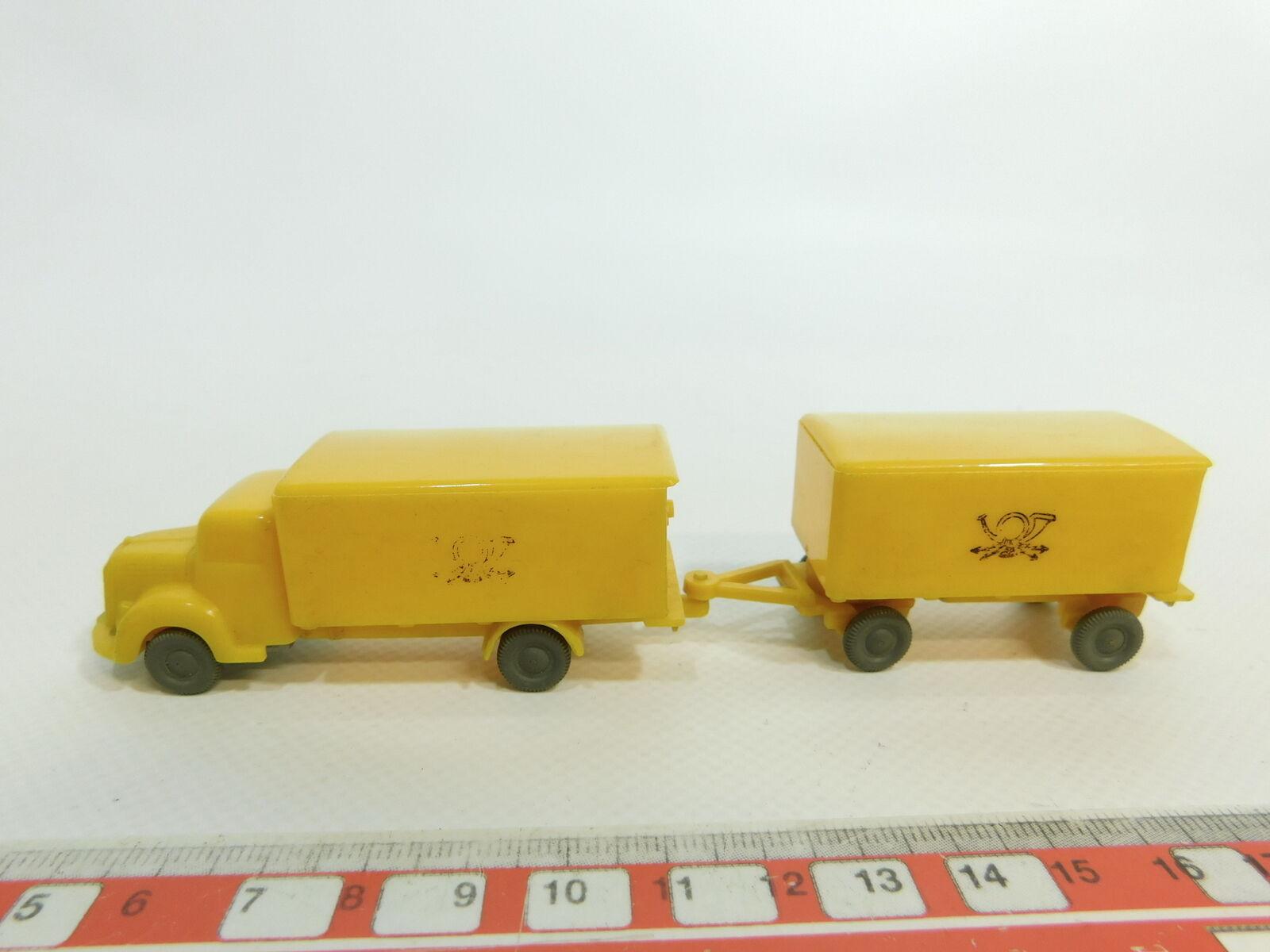te hará satisfecho Ao315-0, 5  Wiking h0 (1 87) modelo post auto auto auto mb-camión con remolque, lunas  barato