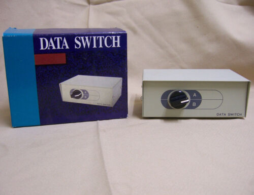 2-Way A//B Switch or metal project Box rj11 phone line select vintage data