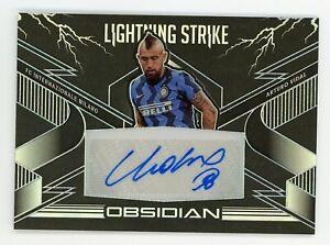 2020-21 Obsidian Arturo Vidal Lightning Strike Autograph /20 FC Inter Milan