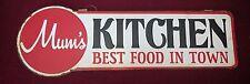 Mum's Kitchen Embossed Vintage Retro Style Metal Sign Notice Plaque
