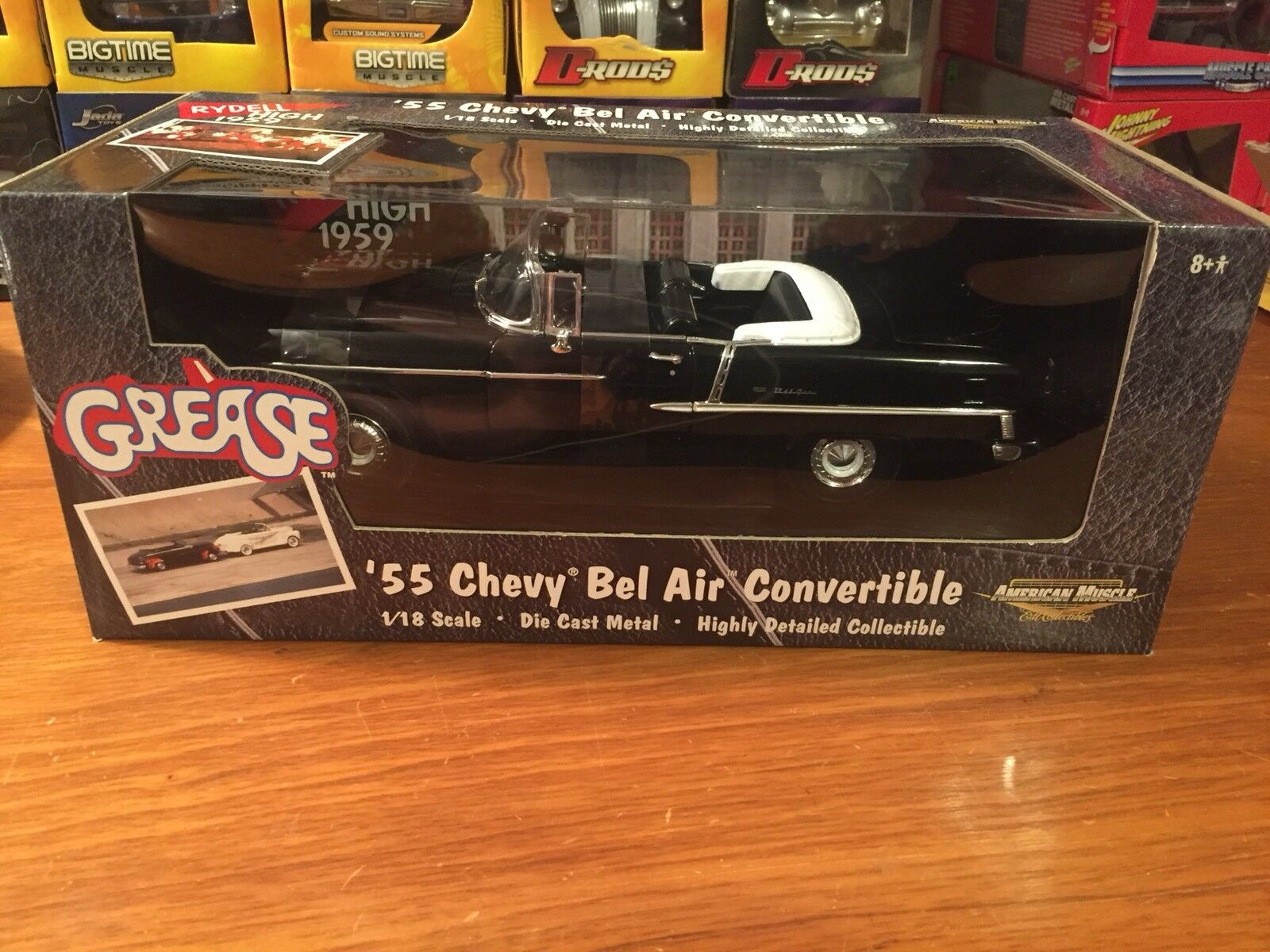 Ertl 1 18 Grease 1955 Chevrolet Bel Air Congreenible Item 36602