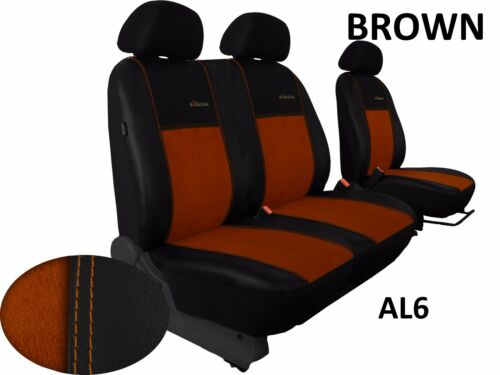 MERCEDES VITO W639 2003-2014 LEATHER /& ALICANTE SEAT COVERS MADE TO MEASURE LHD