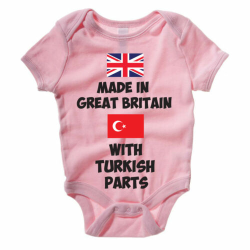 Funny Baby Grow Vest Body Suit MADE IN GREAT BRITAIN WITH TURKISH PARTS