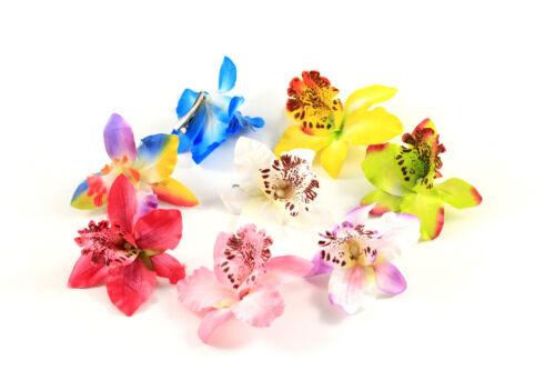 Haarklammer Haarspange Krokodil Blume Blüte Orchidee Boho Haarschmuck A437