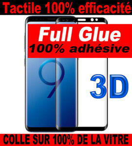 Vitre-Verre-Trempe-Film-GALAXY-S9-8-NOTE-9-8-Glass-Tempered-3D-FULL-GLUE