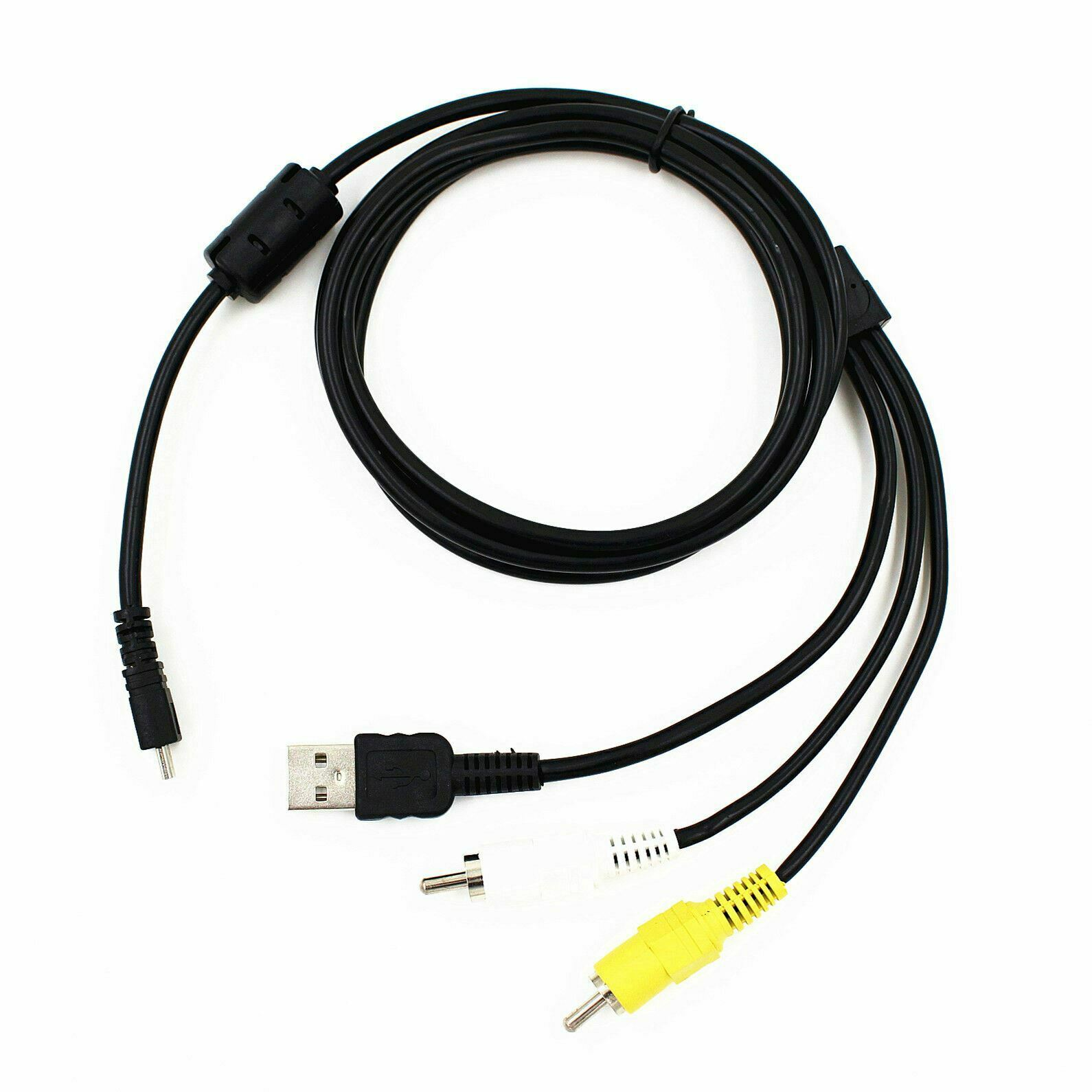 For Panasonic Lumix DMC-FP1 Camera 3 in 1 USB Charger Data AV TV Cable Lead