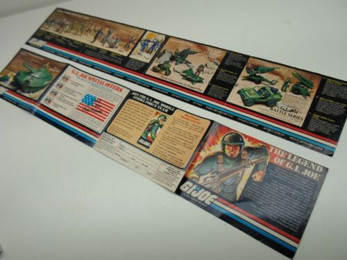 GI Joe Hasbro Vintage 1980s Action Figure Catalogs Mail Away forms MULTI-LISTING