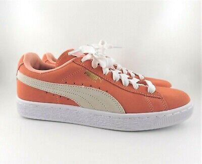 6d7ac70071 Puma Women's SUEDE CLASSIC Shoes Desert Flower/White 355462-33, Peach, US 7    eBay