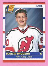 1990-91 Score American card #439 of Martin Brodeur (Rookie)
