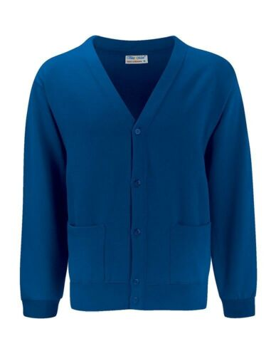 taglie Fleece cardigan-sweatshirt cardy-quality-blue max-school-choice di colori
