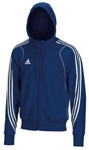 Adidas-Herren-Hoody-blau-Sweatshirt-Jacke-Hoodie-Gr-XS-S-Kapuzenpulli