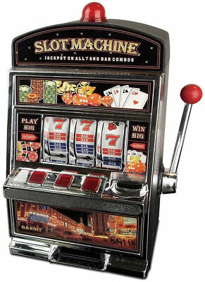LARGE MONEY SAVING BANK MACHINE SLOT MACHINE POUND SAVING BANK CASINO  MACHINE | eBay