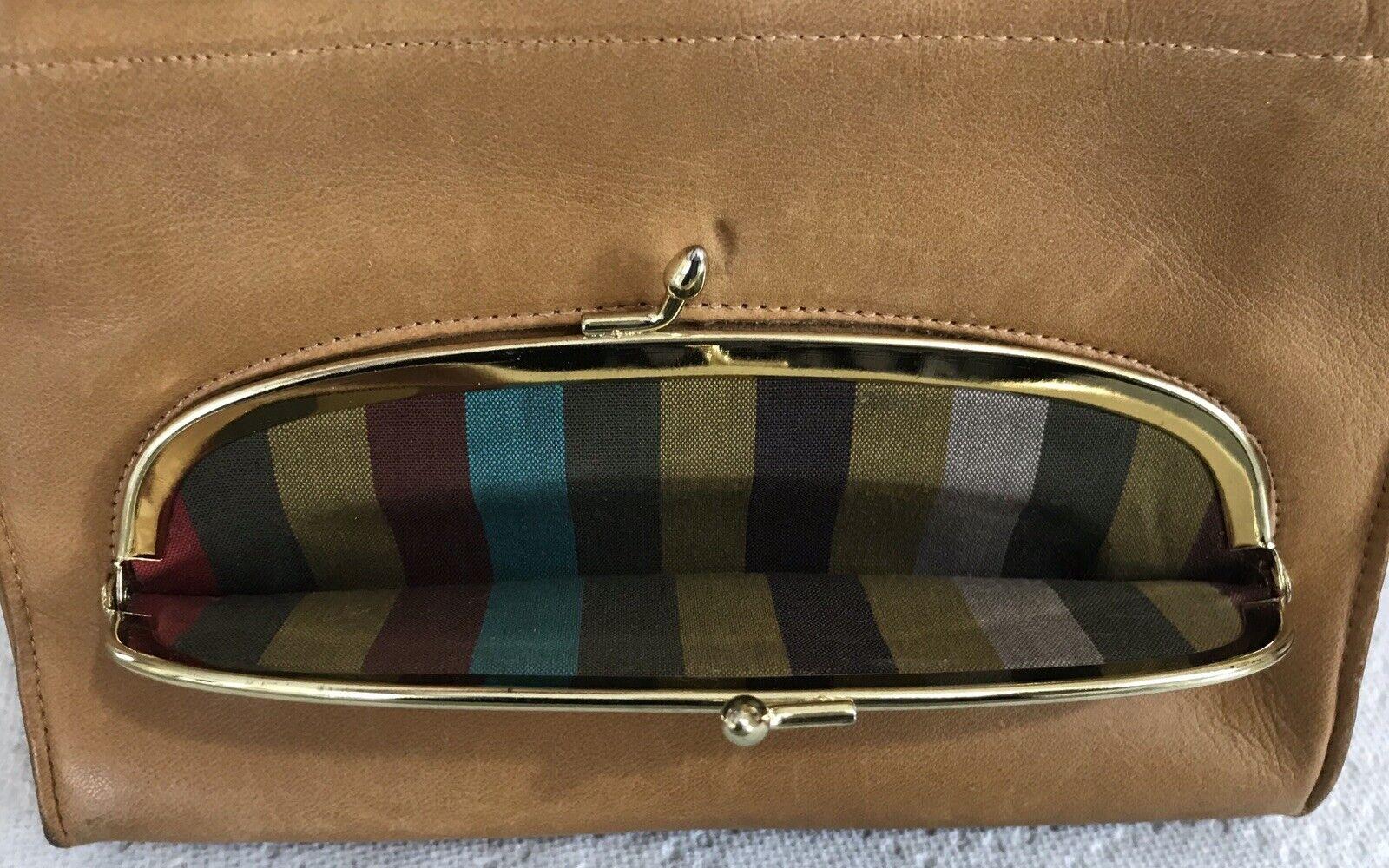 Vintage Coach Rare Leather Bonnie Cashin Stripe I… - image 2