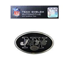 Promark New NFL New York Jets Plastic Chrome 3-D Auto Emblem Sticker Decal