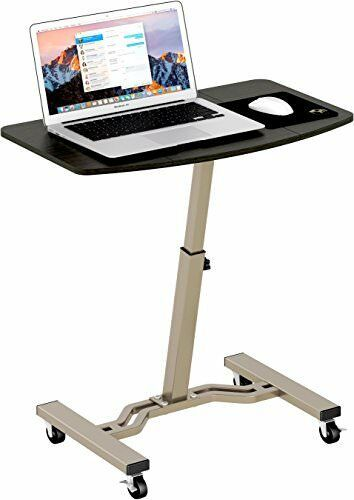 LeCrozz Height Adjustable Mobile Laptop Stand Desk Rolling Cart New