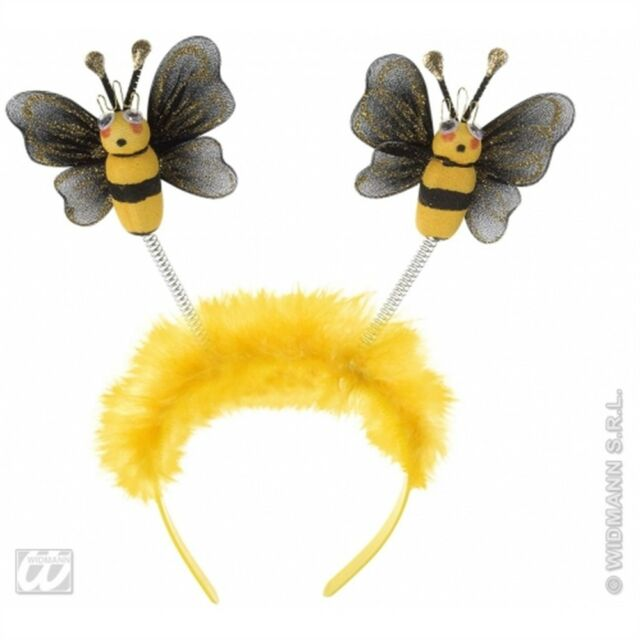Adult's Bee Headband - Fancy Dress Accessory Bumble Boppers Job Theme Hats Caps