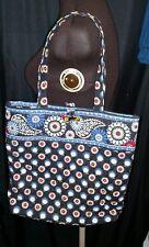 Vera Bradley NIGHT OWL Tote toggle large handbag shoulder bag purse