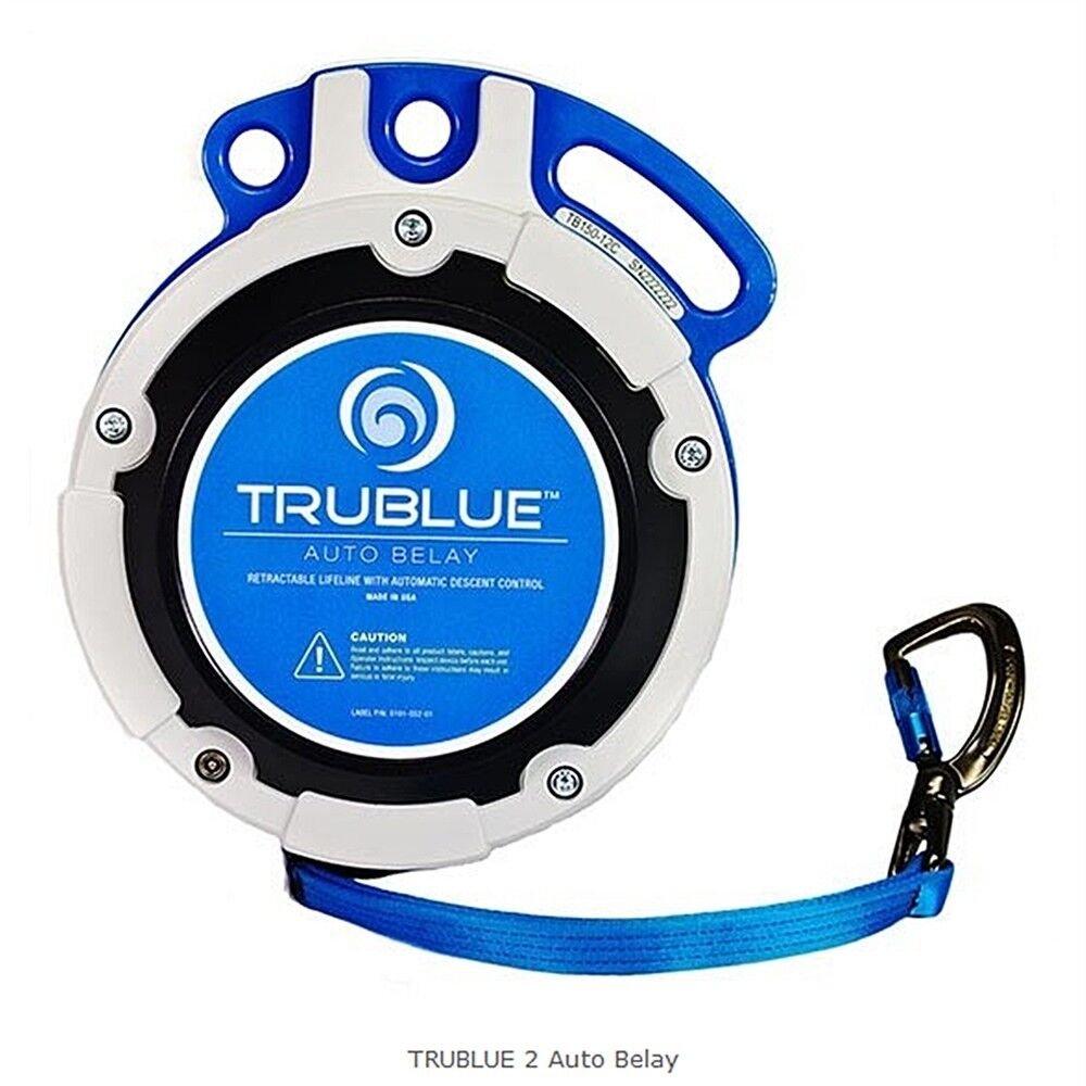 TRUblueE 2 Auto Belay up to 41 feet Made in USA Magnetic Lowering Technology