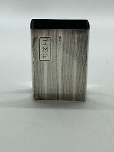 Antique Sterling Silver Matchbook Cover Match Case Monogram T Vtg marked 394