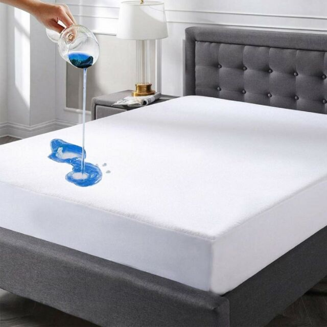 Antibacterial BeautySleep Mattress Pad Size Hypoallergenic Fitted Sheet Mattress Cover White Ultra Soft Quilted Mattress Protector Breathable King