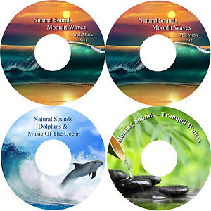 Healing-Nature-amp-Music-on-4-CDs-Relaxation-Stress-Anxiety-Relief-Help-Sleep
