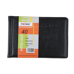 Leather 40 Card Commercial Name ID Credit Card Book Case Holder Organizer C DOL