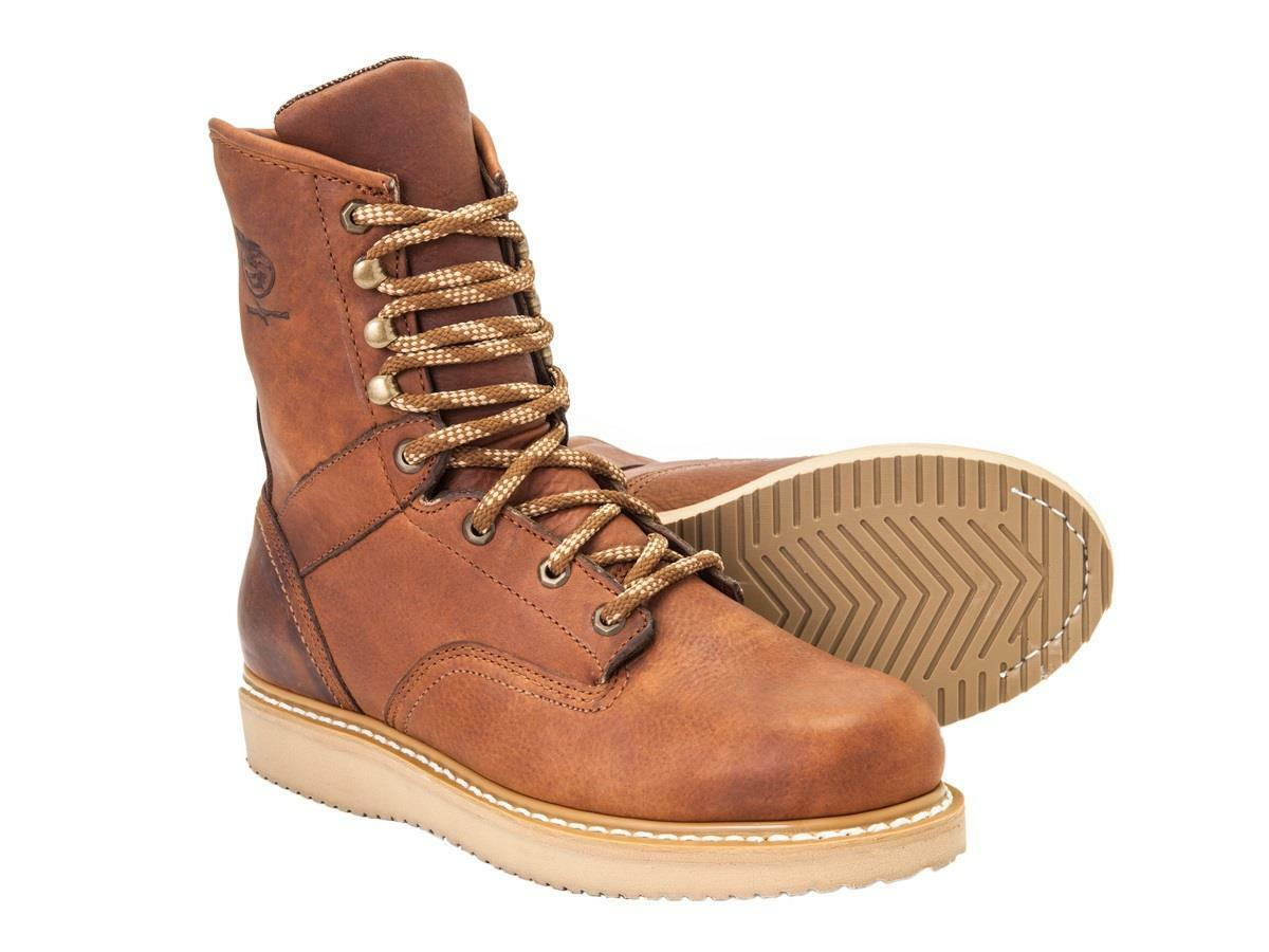 GEORGIA BARRACUDA GOLD WEDGE WORK BOOT with SPR LEATHER G8152 M/W 7-14 NEW