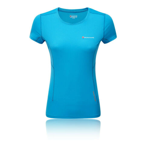 Haut Femme Montane Claw T Shirt Tee Top Blue Sports Extérieur Respirant Réfléchissant