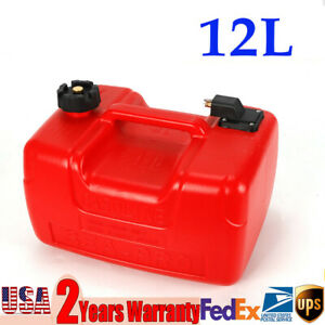 Portable 3.2 Gallon Marine Outboard Boat Motor Gas Tank External Fuel Tank 12 L